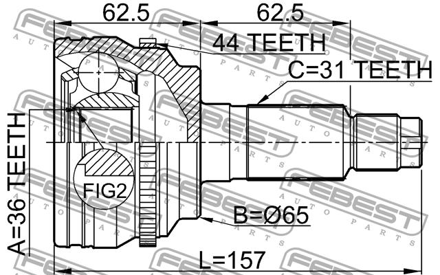 0510-CX7A44 ШРУС НАРУЖНЫЙ FEBEST